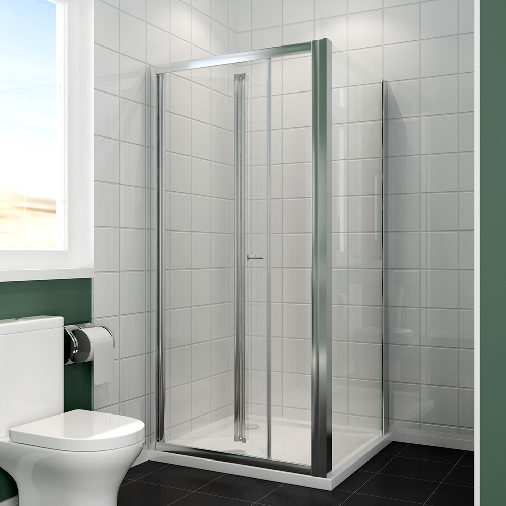 Bifold Framed Shower Enclosure Walk In Cubicle Door