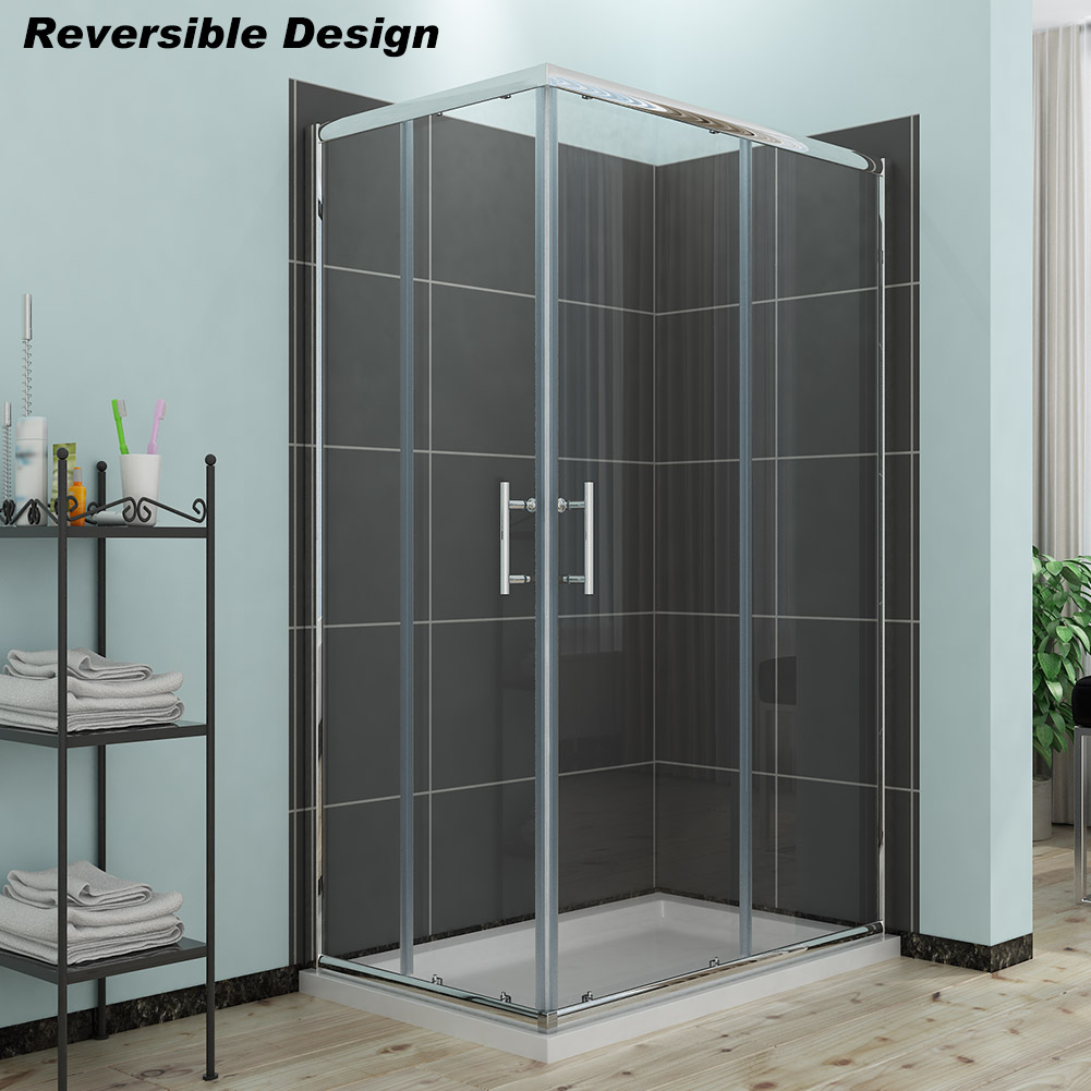 New 1100x800mm Corner Entry Shower Enclosure And Tray