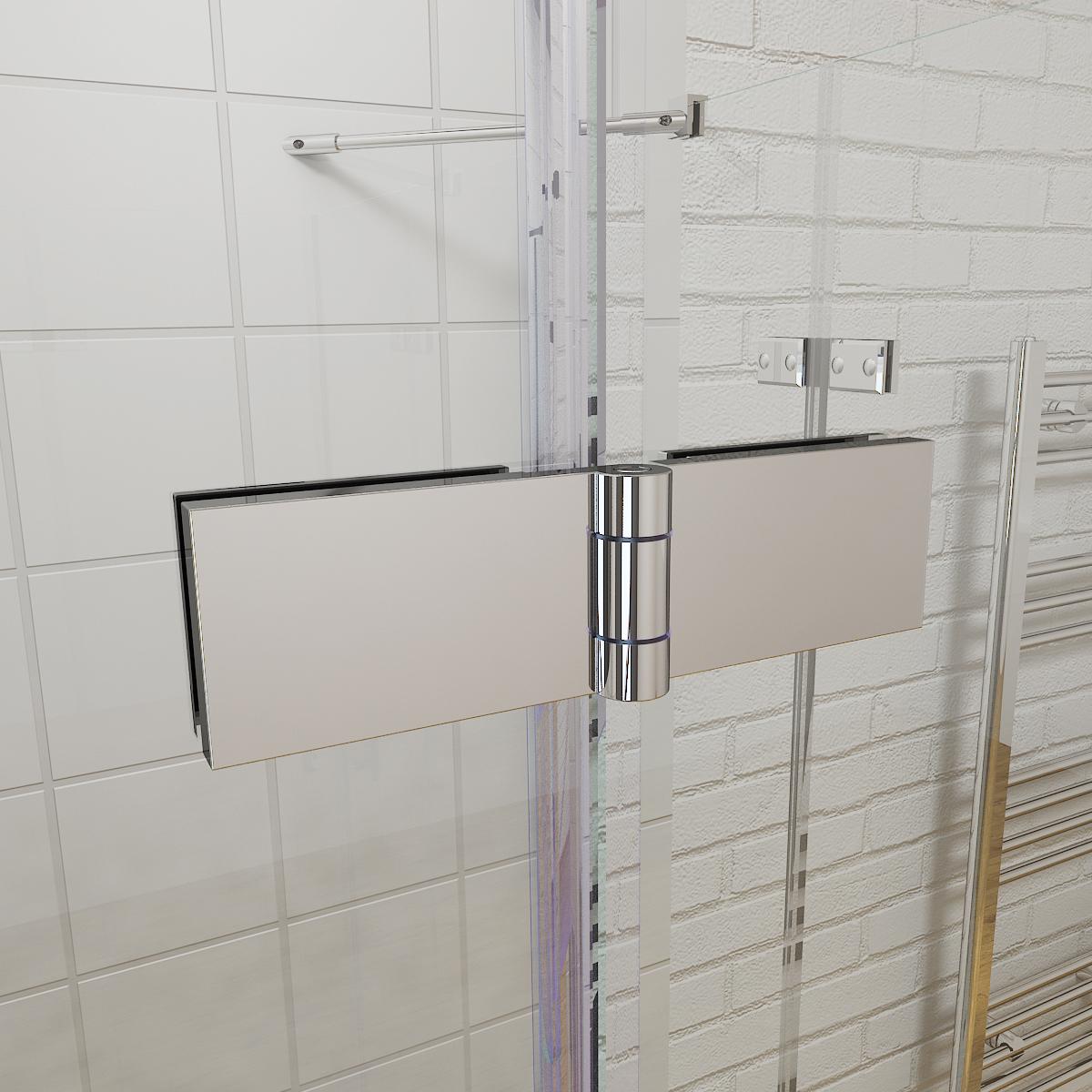 Frameless corner shower enclosure cubicle and tray 6mm for Frameless corner shower enclosure