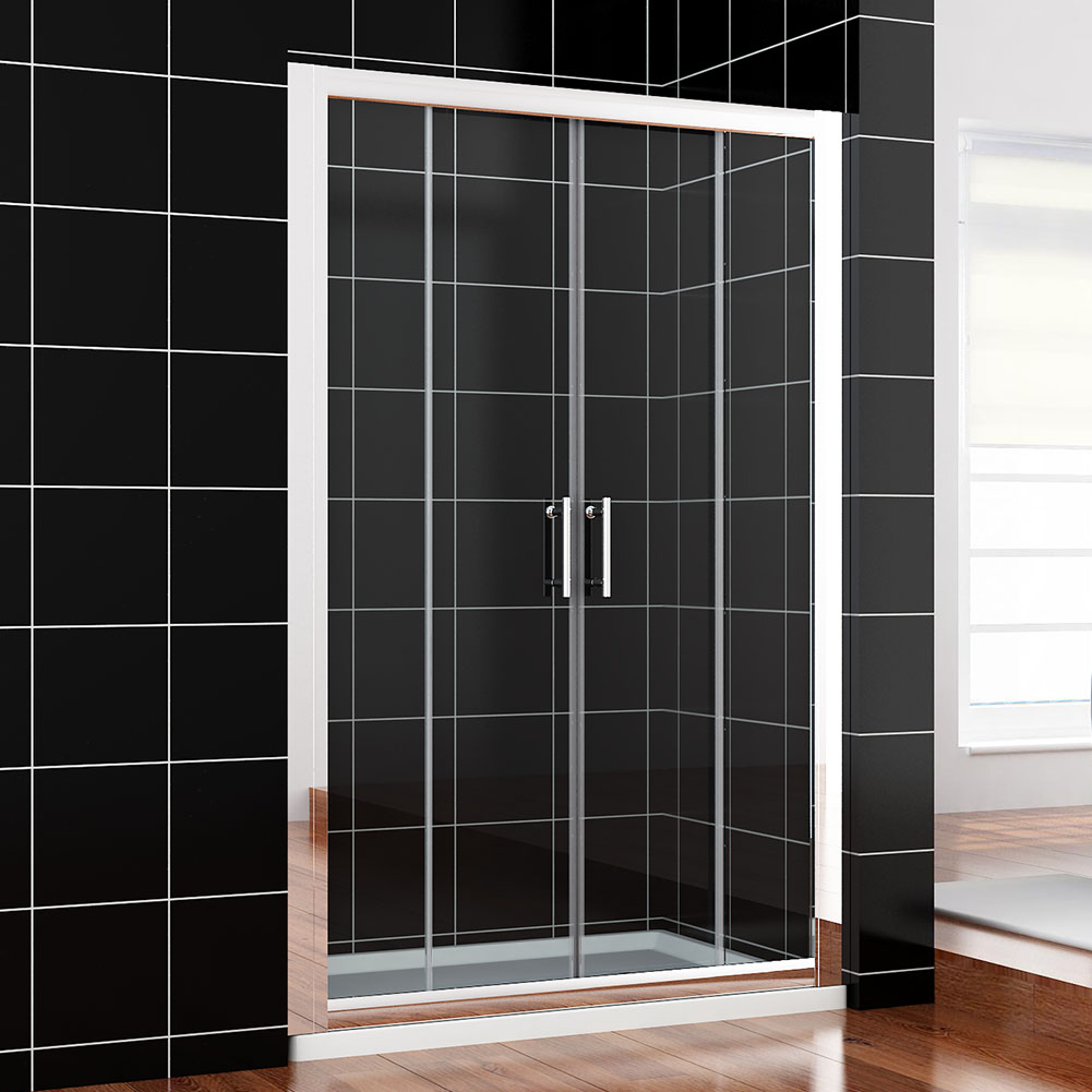 Bifold pivot walk in wet room sliding shower door for 1300 mm sliding shower door