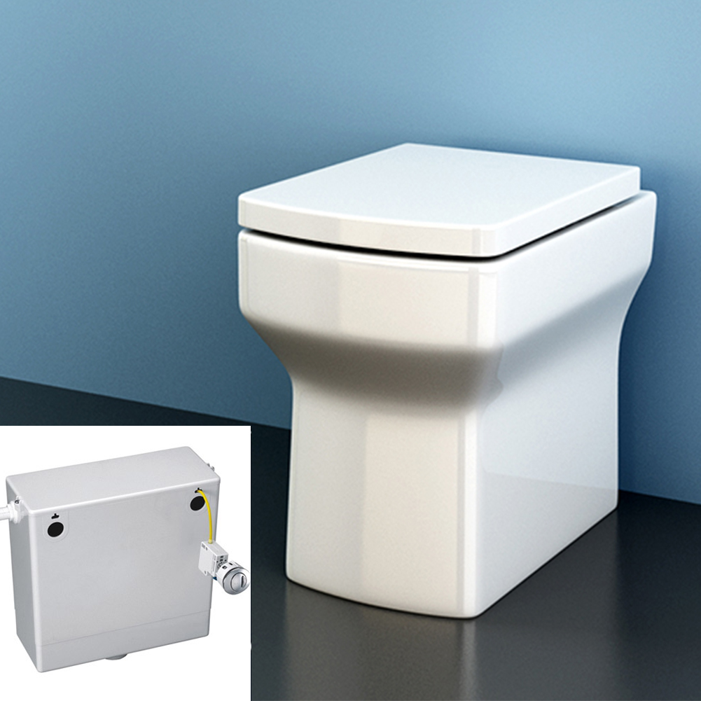 bathroom vanity unit toilet sink basin furniture back to wall toilet