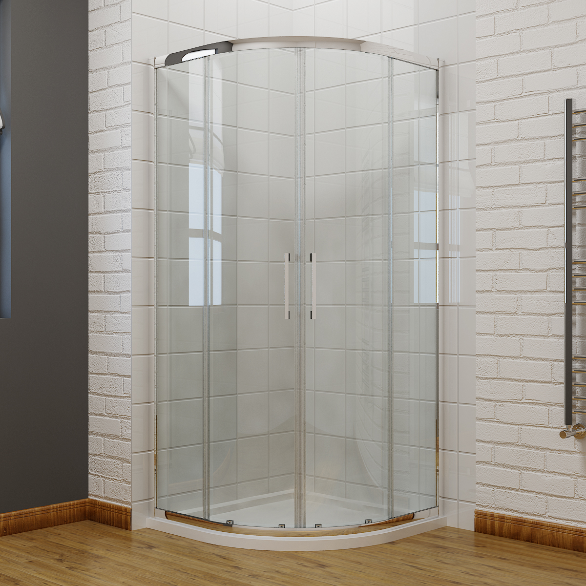 offset quadrant shower enclosure cubicle and tray 8mm easy. Black Bedroom Furniture Sets. Home Design Ideas