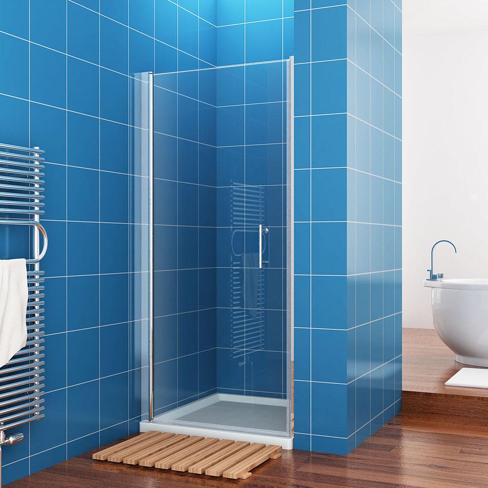 Faltt?r Dusche Nische : Frameless Glass Shower Door Pivot Hinges