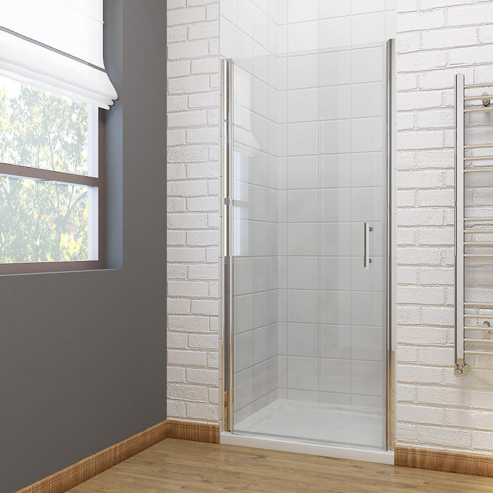 Corner entry shower enclosure and tray walk in cubicle for Sliding glass doors corner