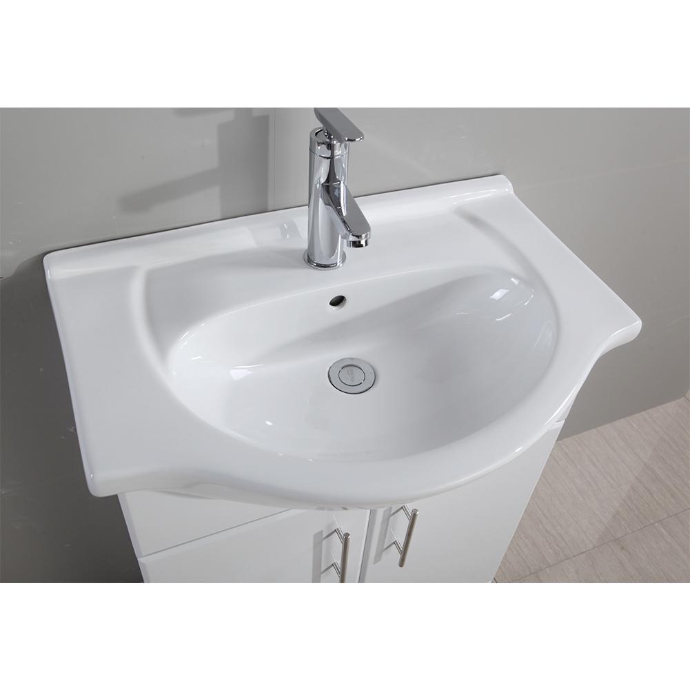 white bathroom vanity unit ceramic basin sink 550mm. Black Bedroom Furniture Sets. Home Design Ideas