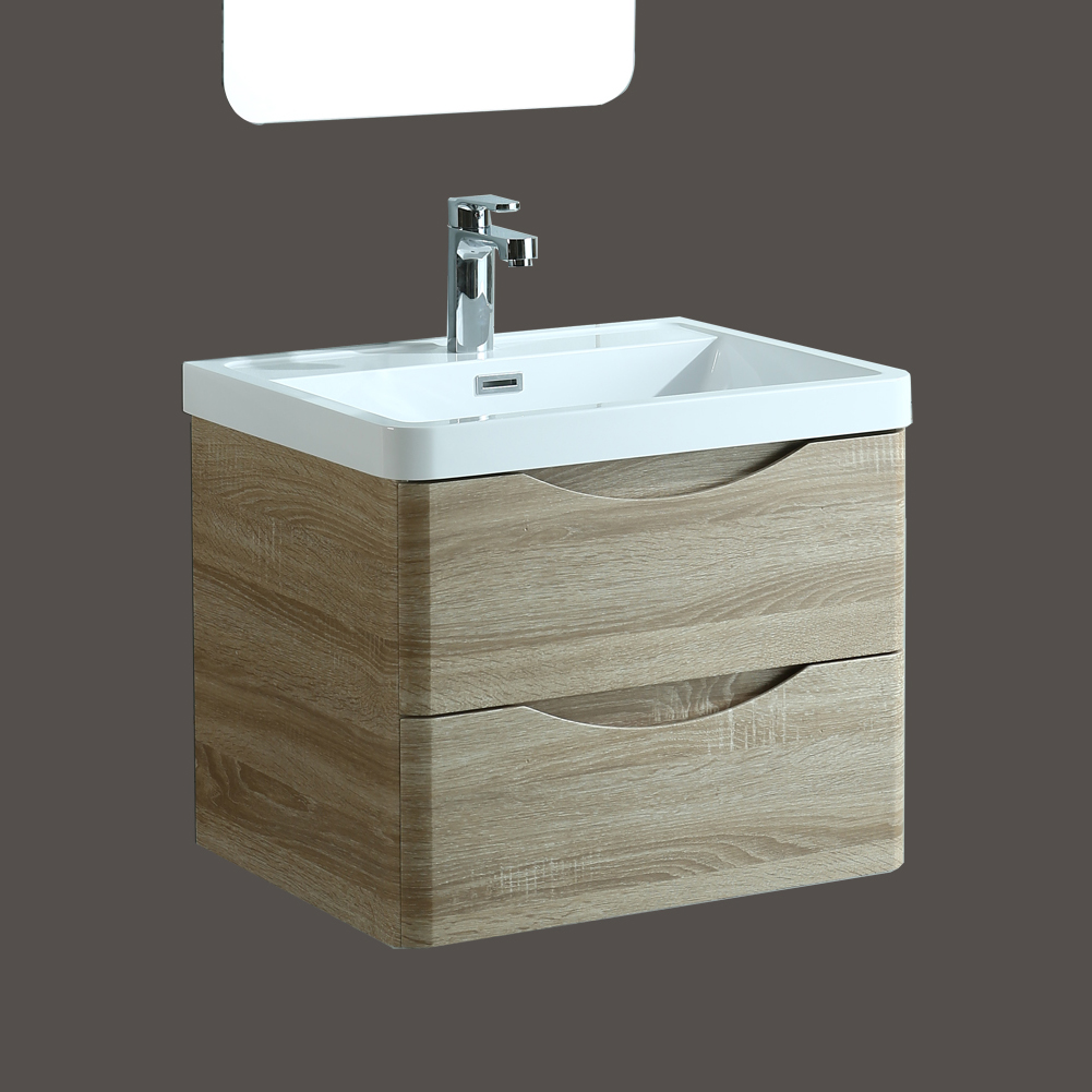 floor mounted or wall hung oak bathroom furniture vanity unit basin