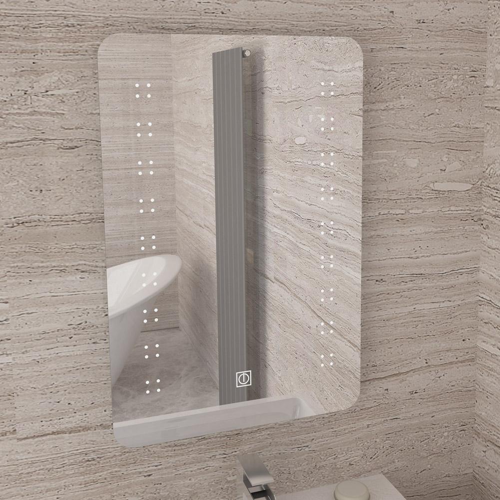 Bathroom Glass Shelf With Rounded Brackets