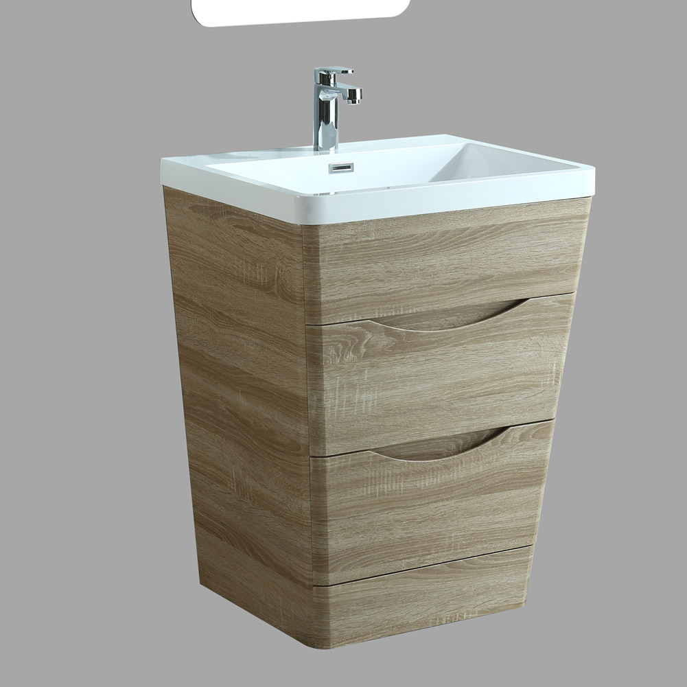 Luxury Floor Mounted Or Wall Hung Oak Bathroom Furniture Vanity Unit Basin Ebay