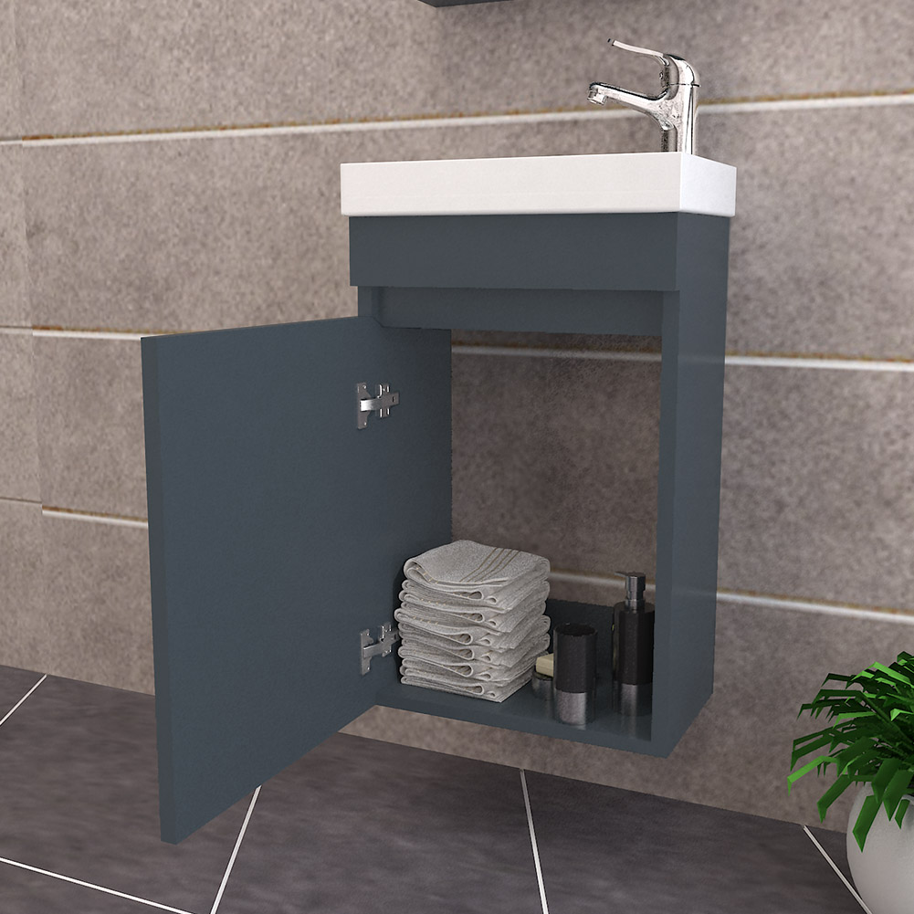 Bathroom Vanity Unit Coloured Wall Hung Amp Basin Sink