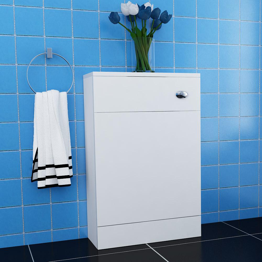 200mm Modern Bathroom White Slimline Back To Wall Toilet