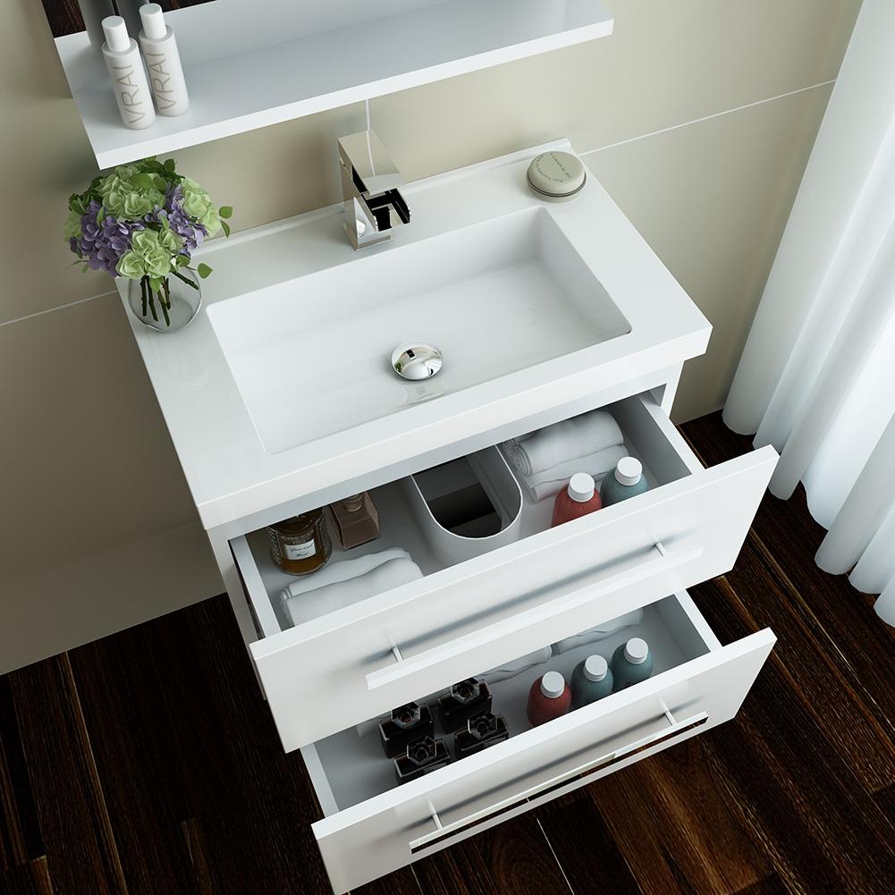 Bathroom vanity unit basin sink storage cabinets furniture for Kitchen cabinets 500mm depth