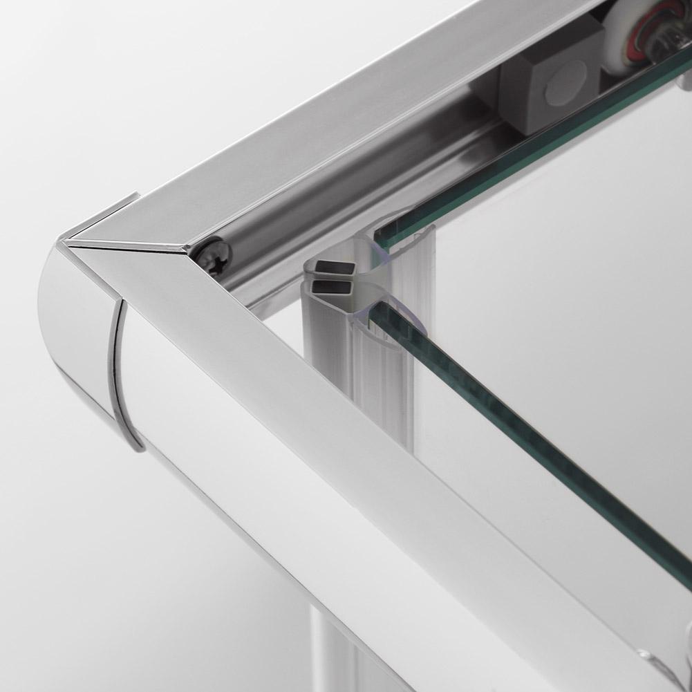 100x80cm duschkabine eckeinstieg doppel schiebet r echtglas duschwand ebay. Black Bedroom Furniture Sets. Home Design Ideas