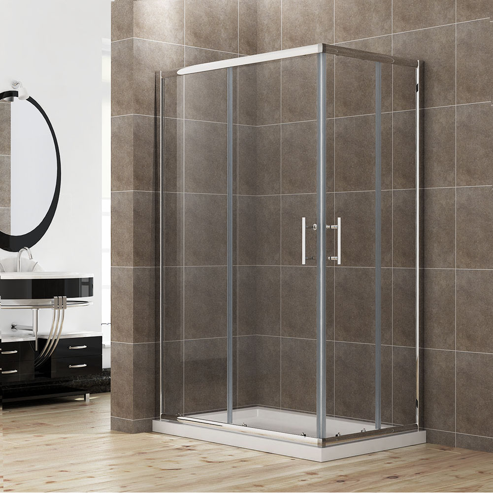 1000x900 framed shower screen cubicle square mel syd bri for Sliding glass doors germany