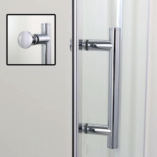 Dusche Nischent?r Rahmenlos : Frameless Glass Shower Door Pivot Hinges