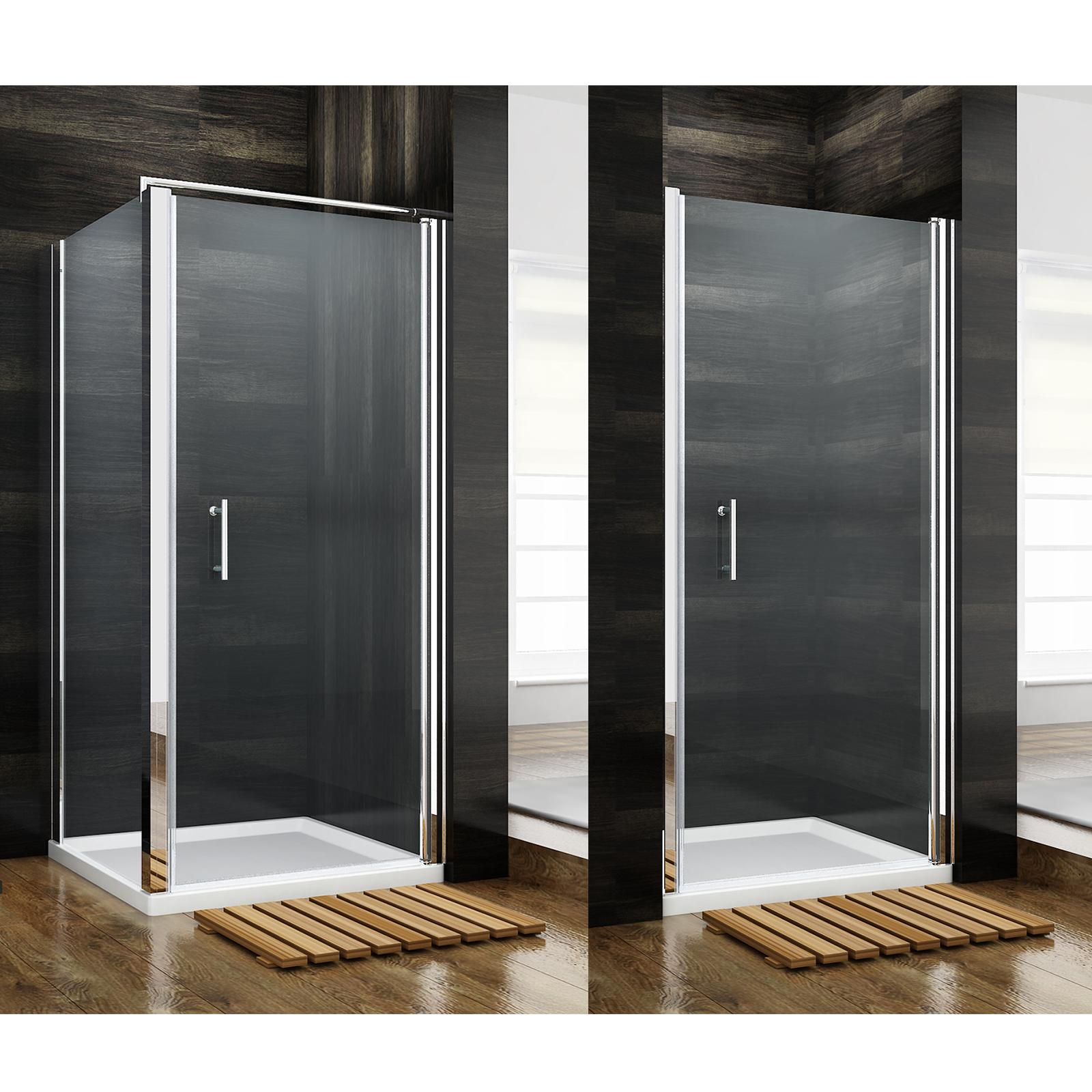 Dusche Nischent?r Rahmenlos : nische rahmenlos schwingt?r eckdusche aus glas duschwand rahmenlos