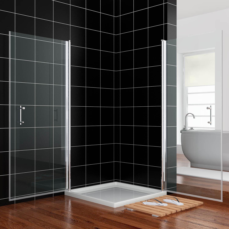 duschkabine eckeinstieg duschabtrennung schwingt r duscht r duscht r echtglas ebay. Black Bedroom Furniture Sets. Home Design Ideas