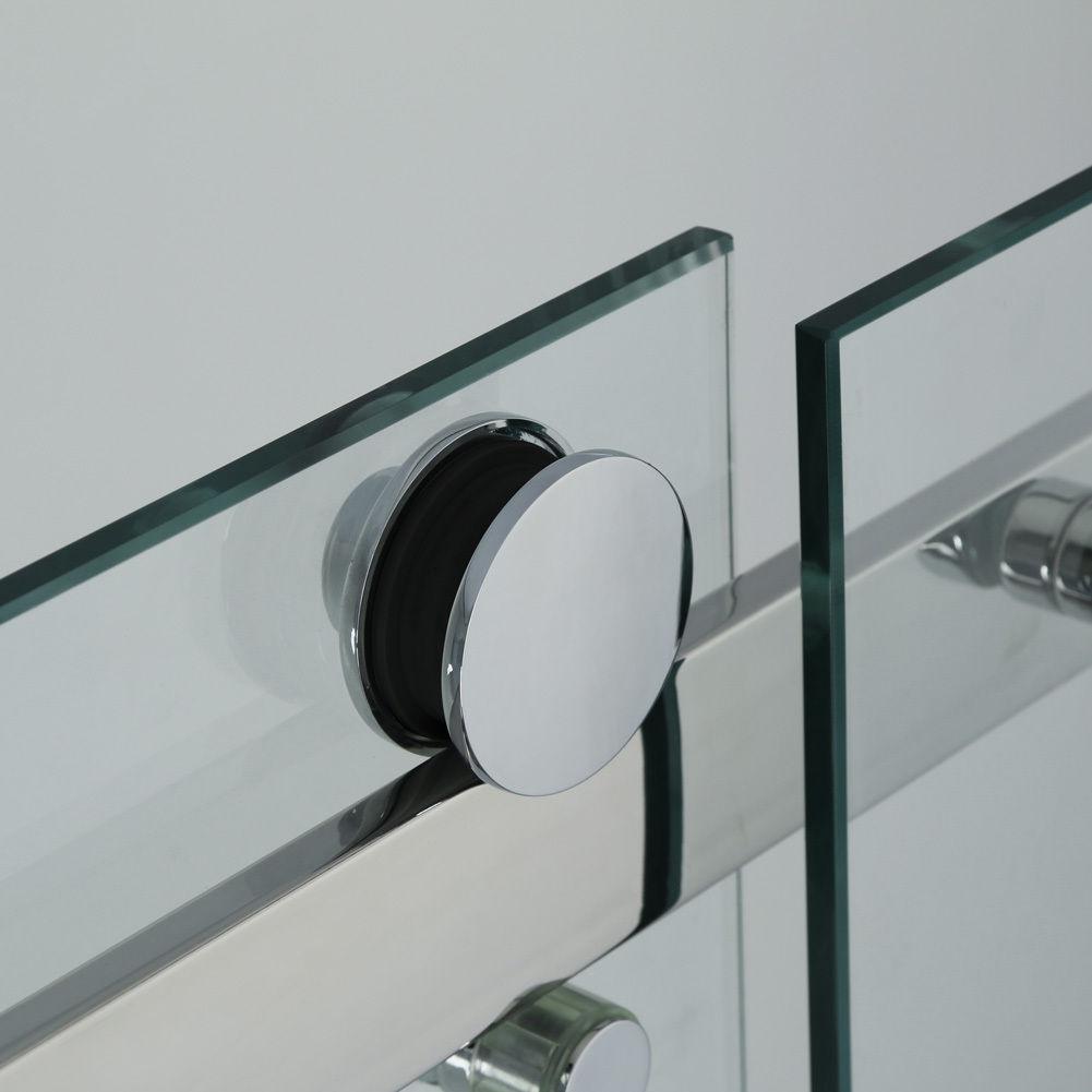 Dusche Eckeinstieg Montageanleitung : Luxus Duschabtrennung Walkin Dusche 8mm Glas Schiebet?r Nischent?r