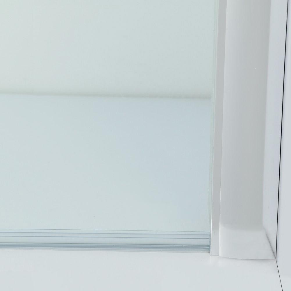 Dusche Nischent?r Rahmenlos : Luxus Duschabtrennung Duschkabine Duscht?r 8mm Glas Schiebet?r