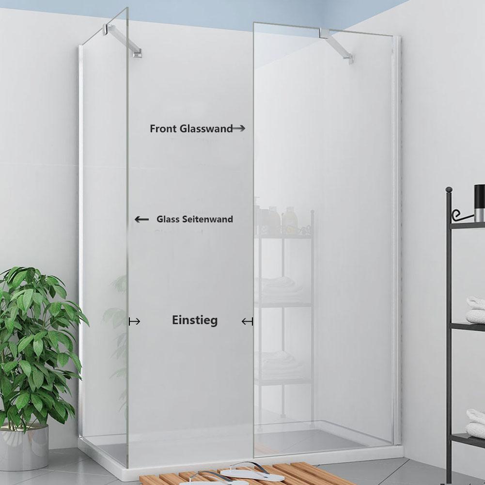 120 110 walk in duschkabine 8mm sicherheitsglas nano beschichtung f r badezimmer ebay. Black Bedroom Furniture Sets. Home Design Ideas
