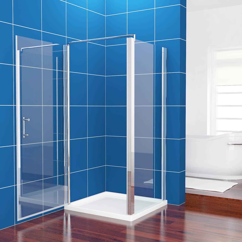 neuer ffnung 760x800mm duschkabine rechteck duschtrennwand rahmenlos schwingt r ebay. Black Bedroom Furniture Sets. Home Design Ideas