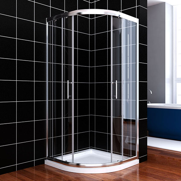 80x80 90x90cm duschkabine viertelkreis runddusch nano schiebet r dusche duscht r ebay. Black Bedroom Furniture Sets. Home Design Ideas