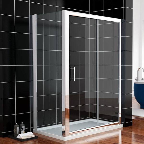 1000mmx700mm sliding wall to wall shower screen enclosure for Sliding glass doors germany