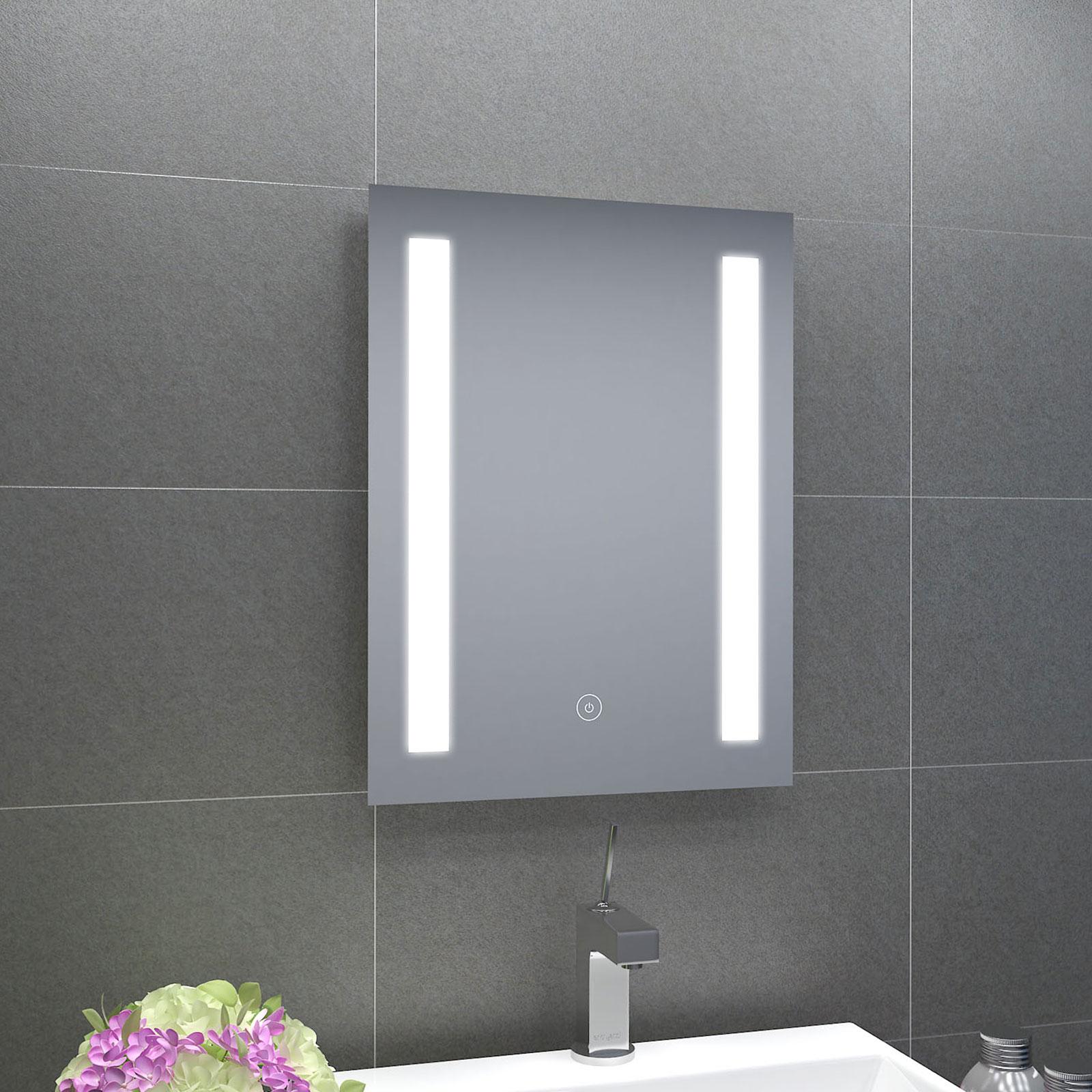 badspiegel badezimmerspiegel led beleuchtung spiegel wandspiegel warmwei ip44. Black Bedroom Furniture Sets. Home Design Ideas