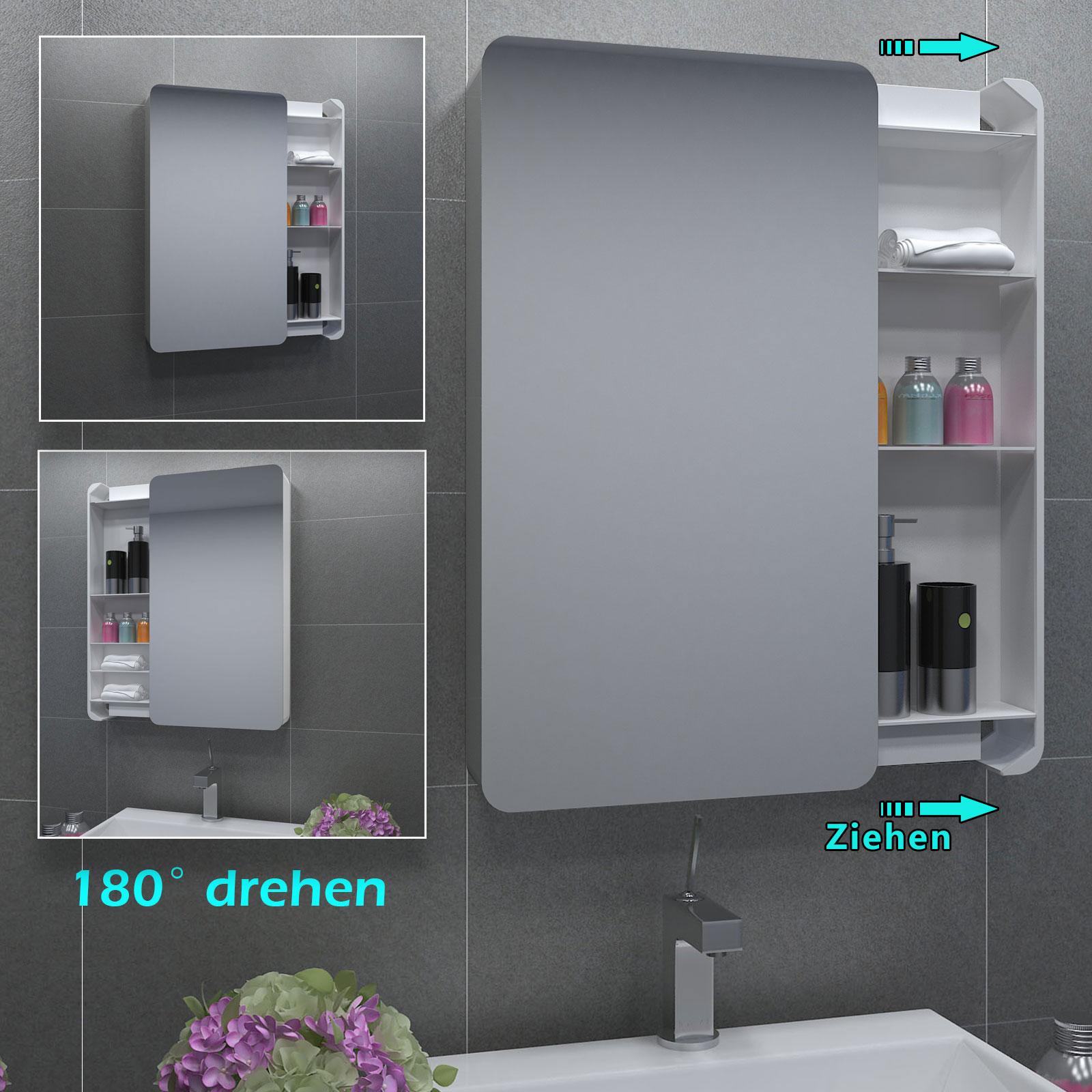 spiegelschrank badezimmerspiegel badspiegel superflach 40x73cm ebay. Black Bedroom Furniture Sets. Home Design Ideas