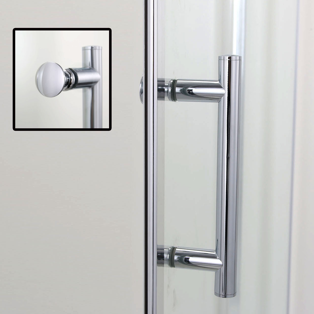 Pivot hinge shower door 1950mm glass enclosure stone tray waste trap ebay - Trap door hinges ...