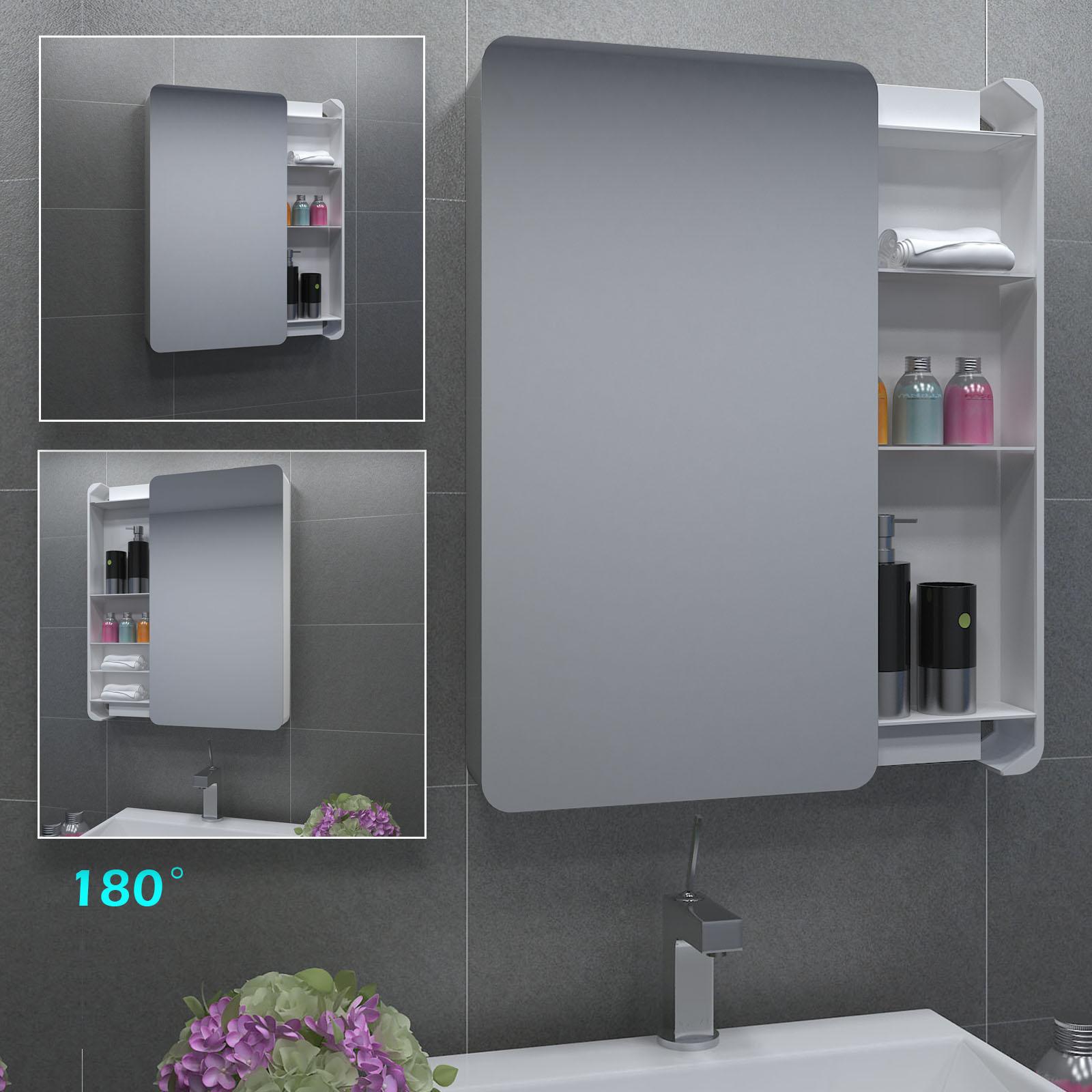 bathroom mirror cabinet storage cupboard double   sliding