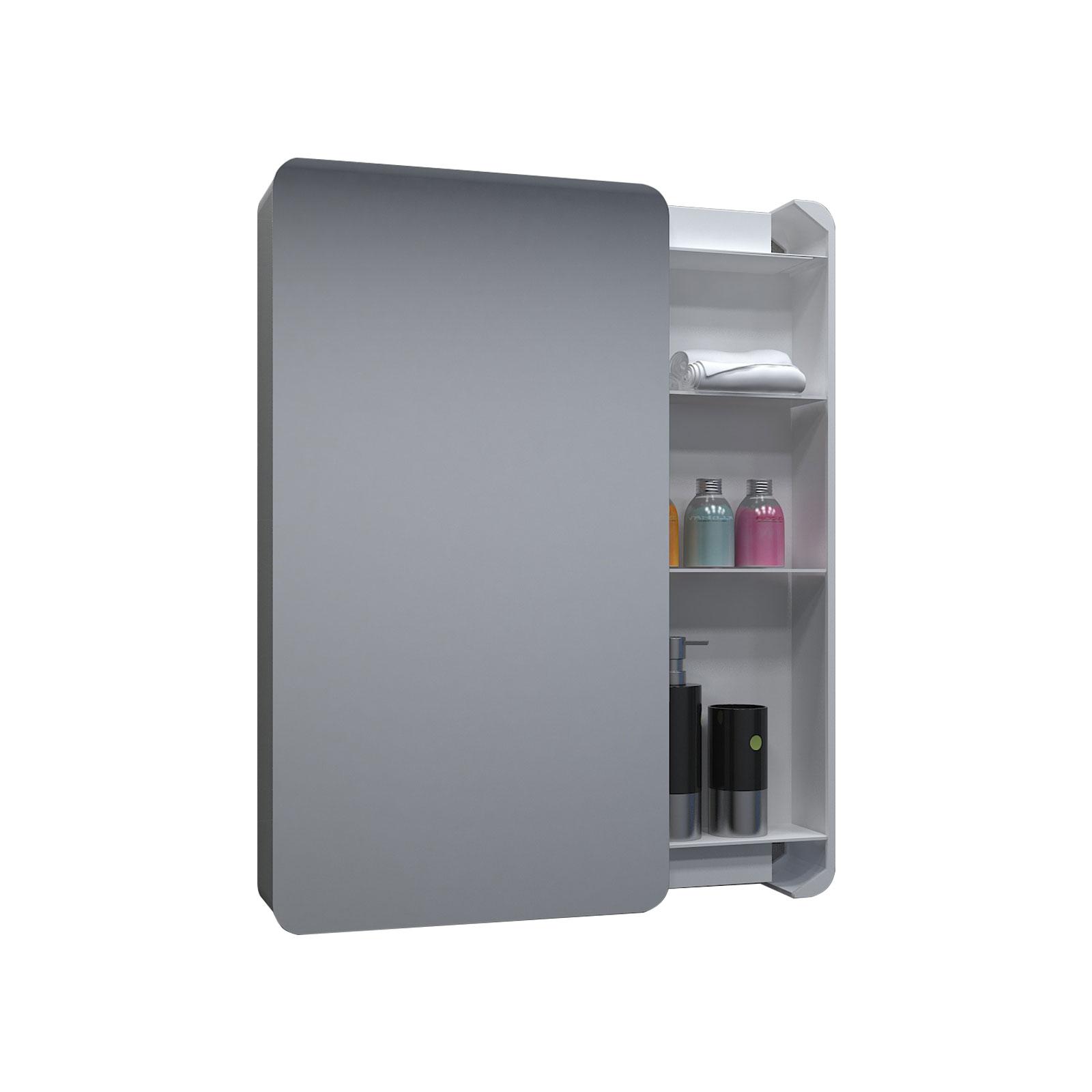 Bathroom Mirror Cabinet Storage Cupboard Double Shelf