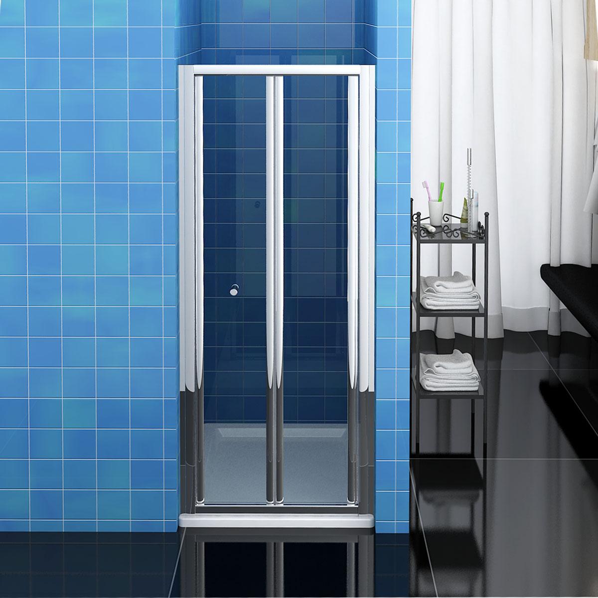 Bathroom Bi Fold Shower Door 900mm Enclosure Cubicle Glass