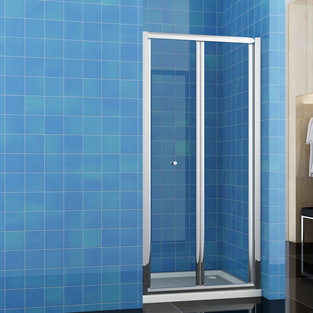 Bi Fold Shower Door 900mm Bathroom Walk In Enclosure Glass