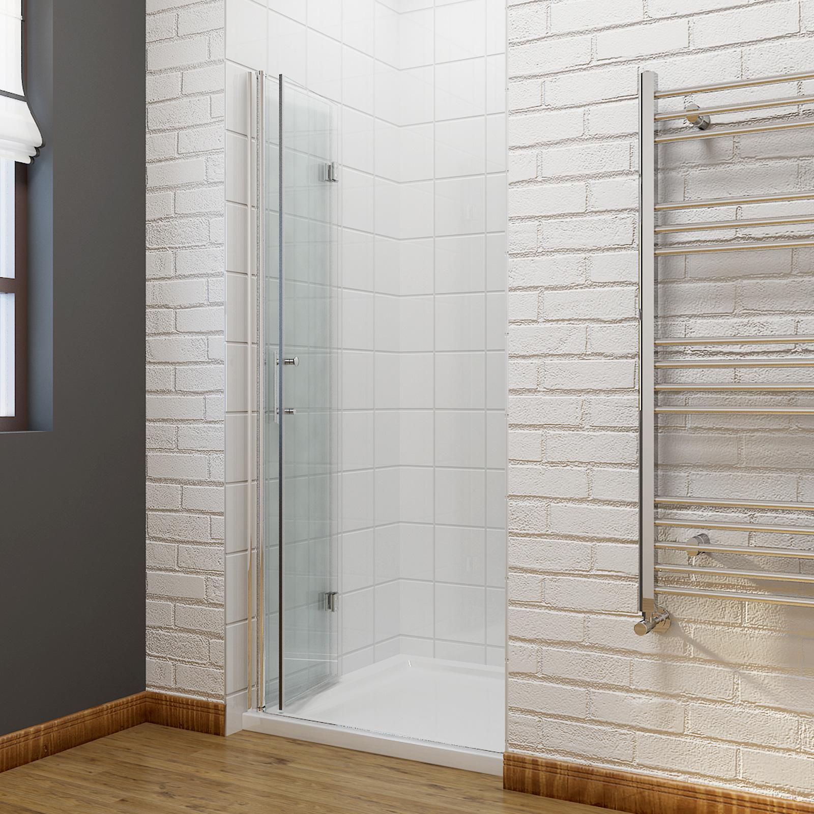 Frameless Folding Door : Frameless bi fold shower door hinge enclosure