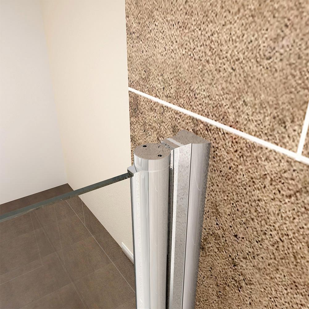 Bifold shower door walk in shower cubicle side panel 700 for 1000mm frameless shower door