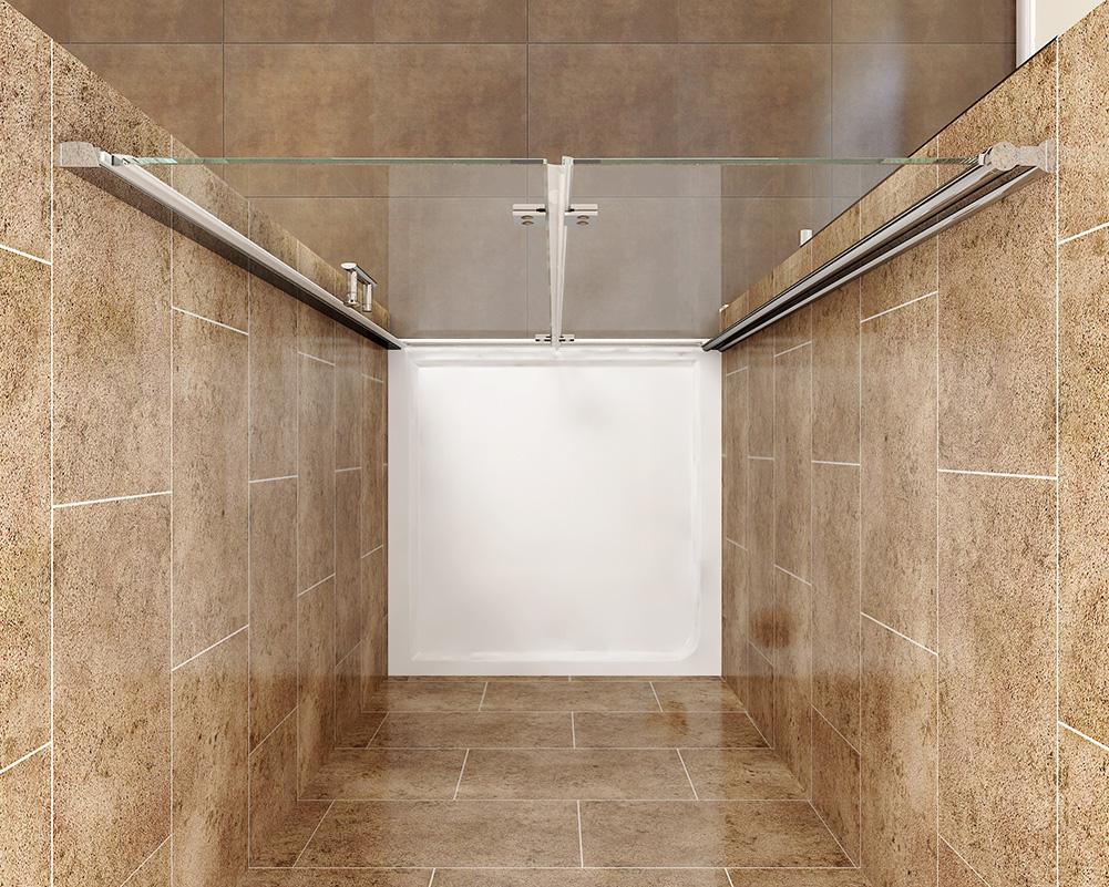 Frameless shower enclosure bifold door tray hinged glass for 1000mm frameless shower door