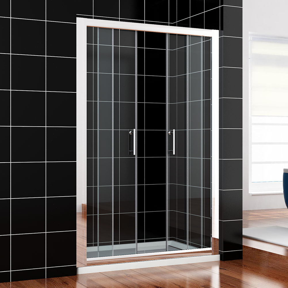 Bifold pivot sliding shower door walk in wet room glass for 1300 sliding shower door