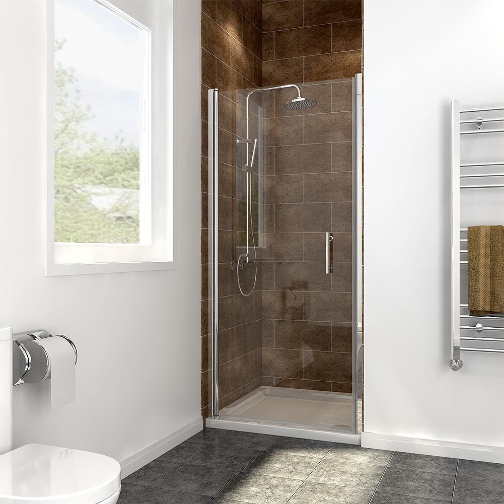Frameless Pivot Shower Doors Pivot Hinge 6mm Safety Glass Screen Door Cubicle