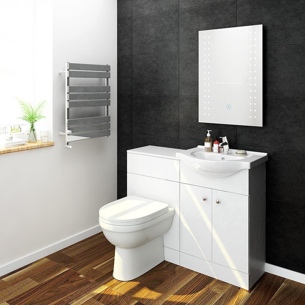 bathroom vanity unit ceramic basin back to wall toilet. Black Bedroom Furniture Sets. Home Design Ideas