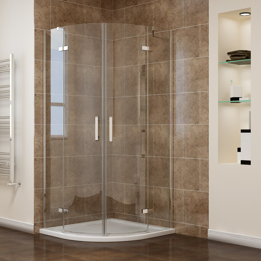 Frameless Hinged Quadrant Shower Enclosure Door Cubicle