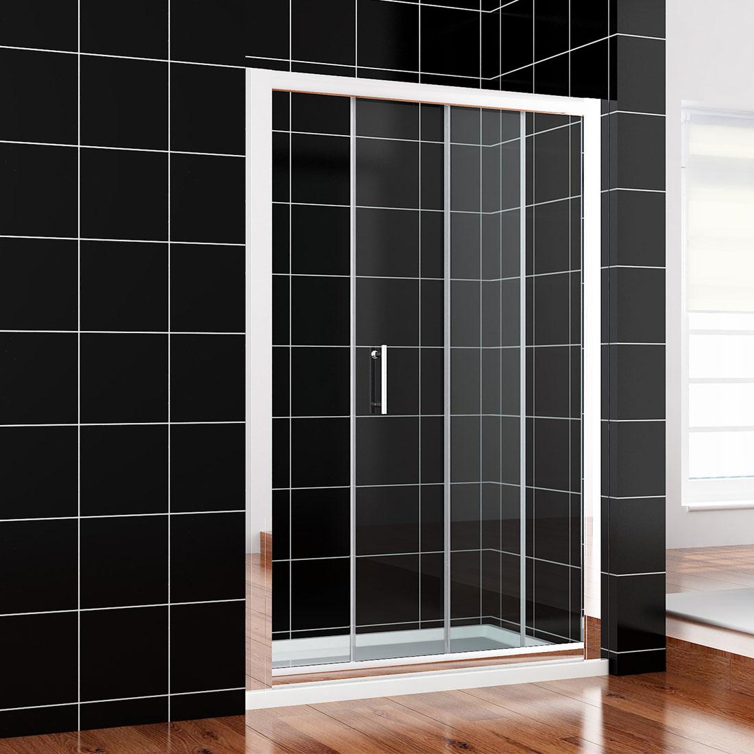 Bifold pivot sliding shower door walk in wet room glass for Bifold door screens