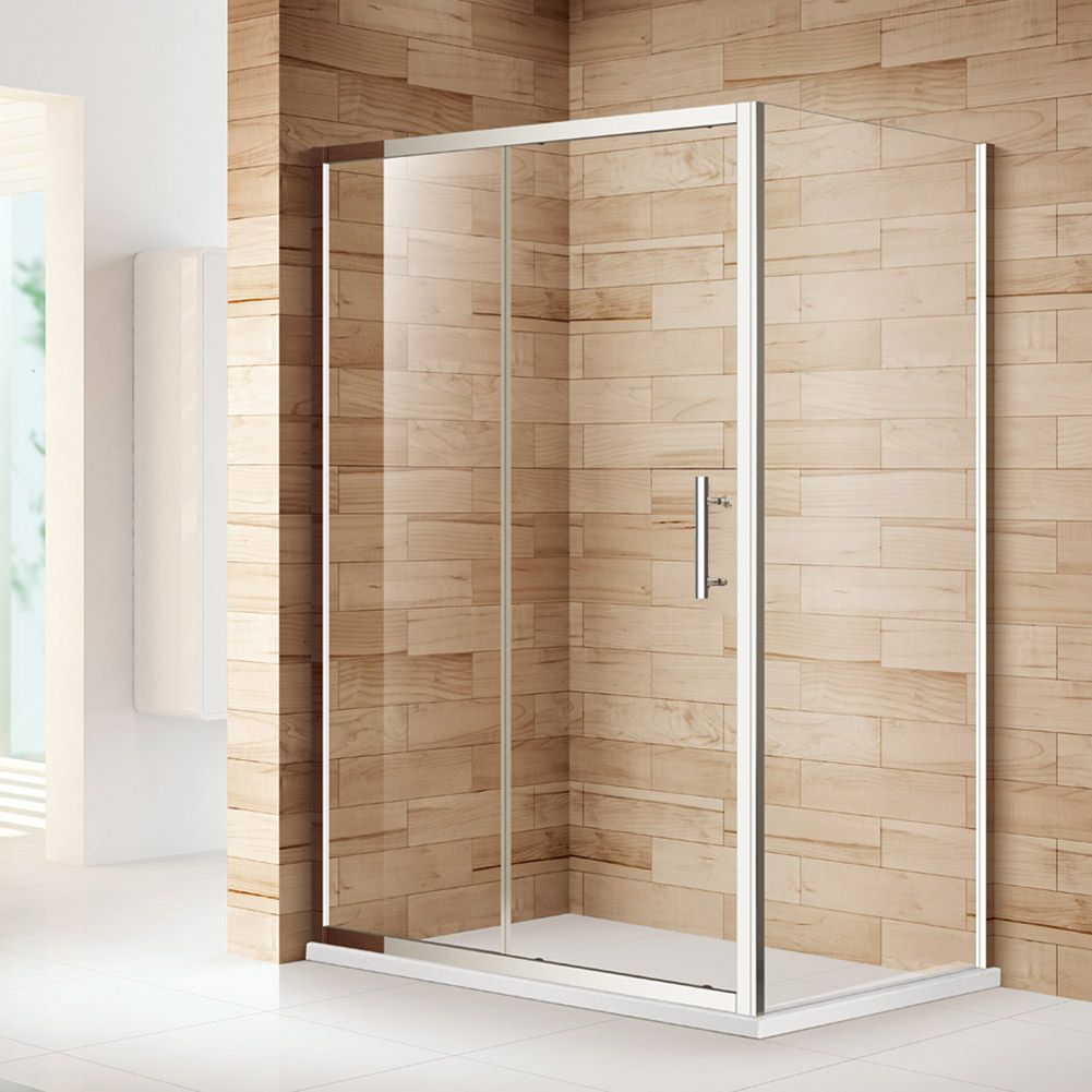 Sliding shower doors enclosure and tray 6mm 8mm glass for 1300 sliding shower door