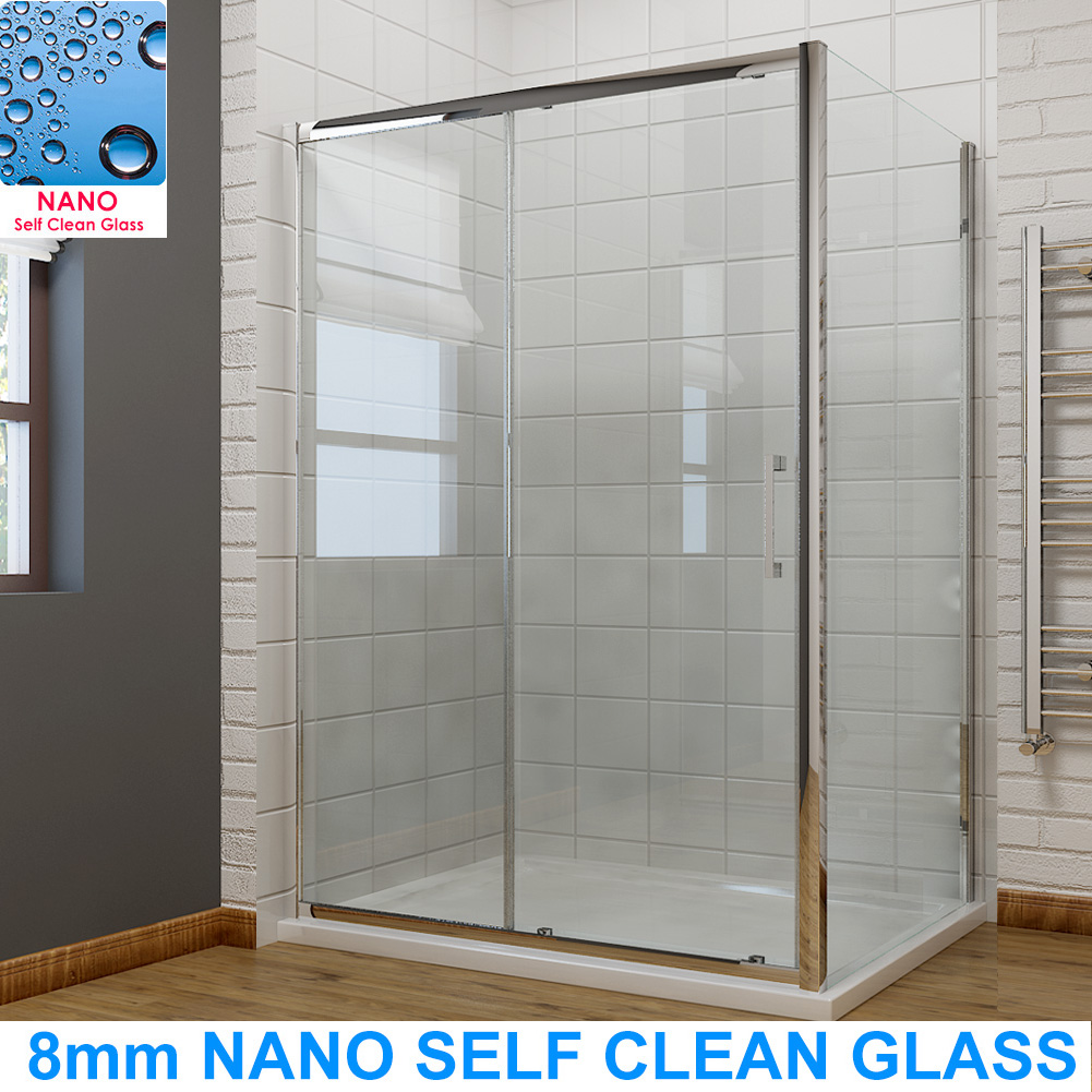 Shower Sliding Doors Shower Enclosure With Tray Cubicle 8mm Easy Clean Glass Ebay
