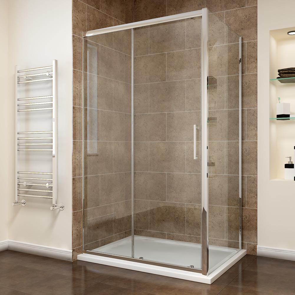 Sliding shower cubicle tall walk in shower enclosure side for 1700 high shower door