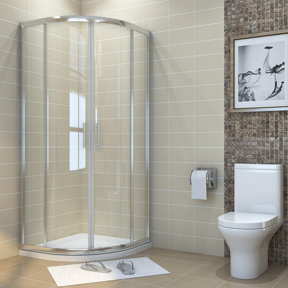 Morden Quadrant Shower Enclosure 900x900mm Glass Screen Door Corner Cubicle