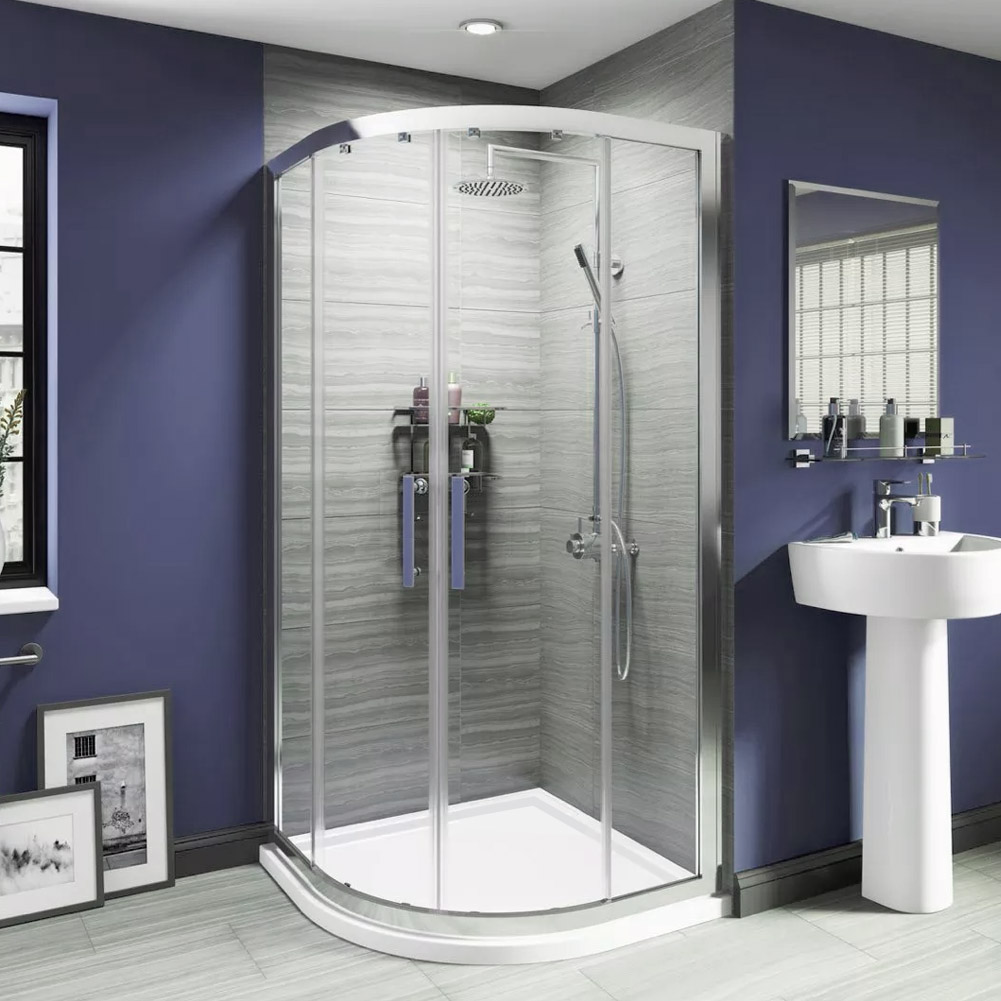 800x800mm Quadrant Shower Enclosure And Tray Corner Entry Cubicle Easy Clean