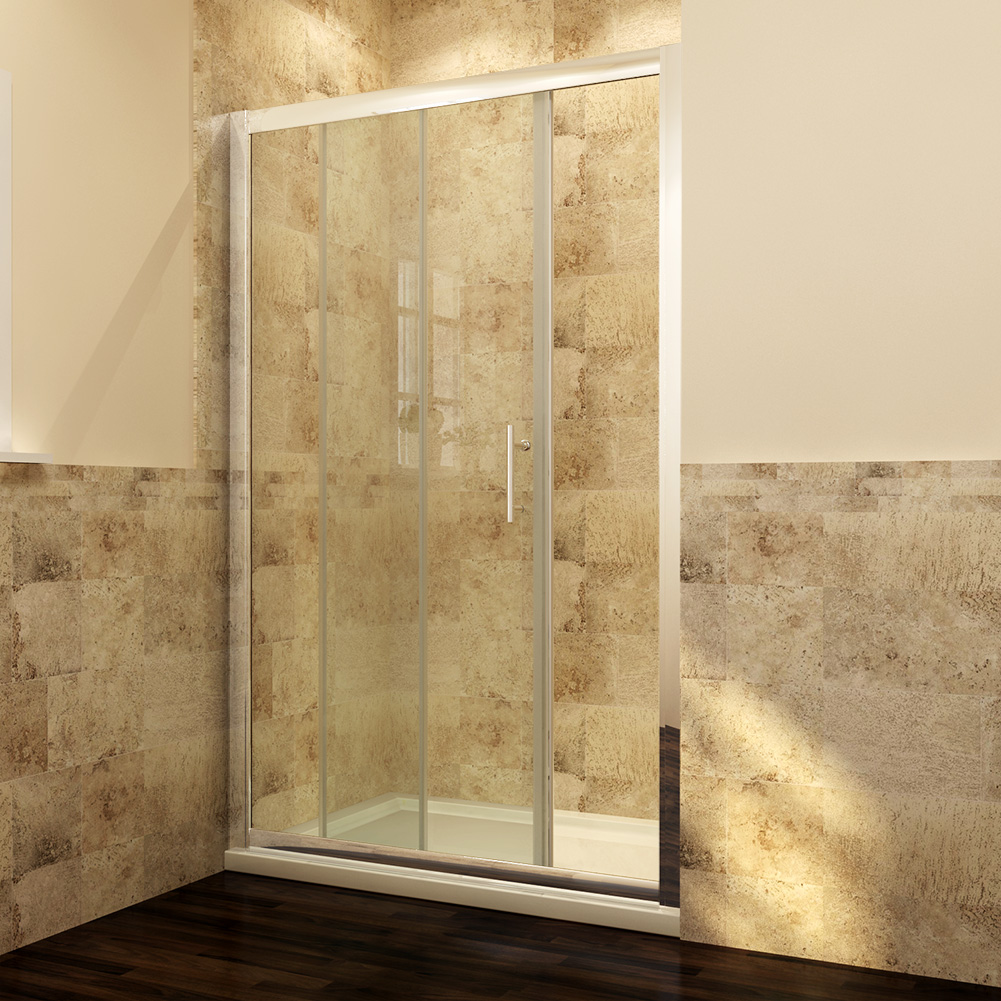 Sliding shower enclosure and tray waste door side panel for 1700 high shower door