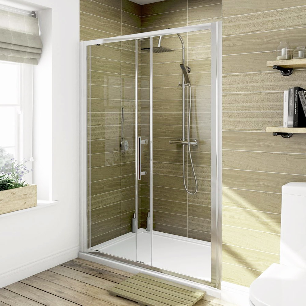 Walk in glass screen bifold pivot sliding shower door for 1300 sliding shower door