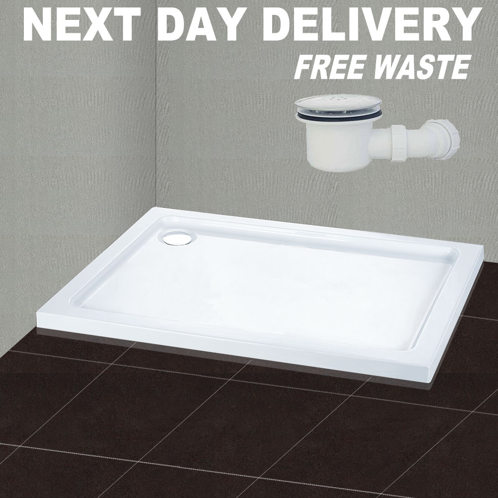 new 900x700mm square stone shower tray in bath for shower