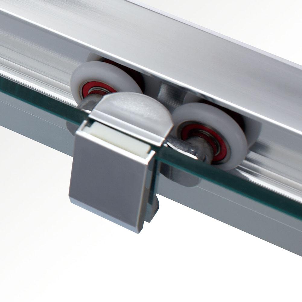 Double single sliding quadrant corner entry shower door for Single sliding exterior door